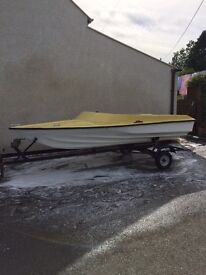 Fletcher Style 13ft Speedboat speed boat and Trailor trailer
