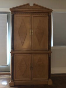 Armoire Gorgeous Solid Maple With Brass Inlay