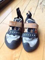 rock climbing shoes