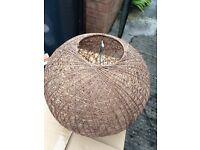 Brown weave lampshade