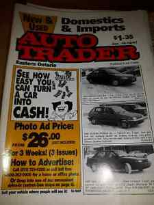 A lot of old magazine of auto trader