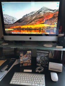 "Apple iMac 27"" Computer w/ Magic Mouse, Keyboard, Apps, Games..."