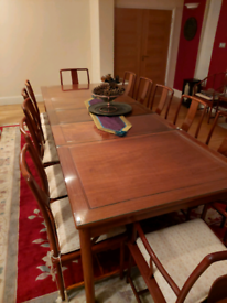 Table chairs and small table set