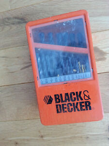 Black and Decker General Purpose Drill Bit Set, good condition!