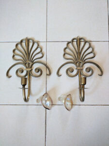 Candle holders / sconces / brass