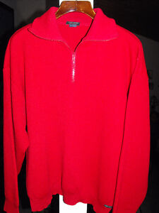 CHANDAIL authentique PULL Saint-James Contentin rouge