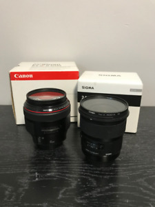 Canon 85mm 1.2L and Sigma 24mm 1.4 DG Art *Canon Mount*
