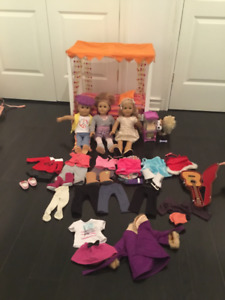 American Girl Dolls, Bed, and Accessories for sale.