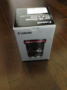 Brand New in Box Canon EF 16-35mm f/2.8L II USM Lens