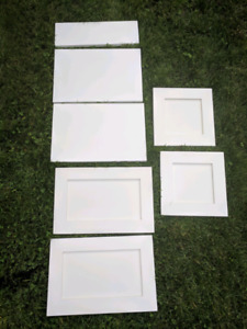 Cabinet doors and drawers - white