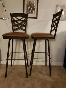 4 Metal Bar stools