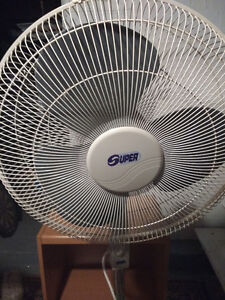 Floor fan with 3 speeds