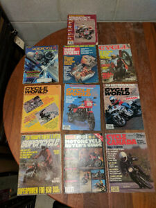 Vintage motorcycle magazines