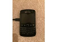 Blackberry mobile phone and charger- BT network