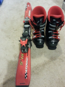 Atomic skis and Nordica boots