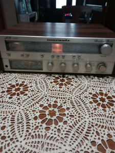 Vintage Marantz MR1150 stereo receiver and Mission 761i speakers