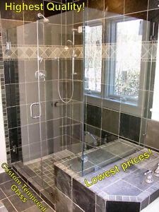 Luxurious Glass Shower Door with Hardware - New!