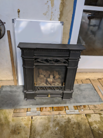 Traditional Victorian design coal effect gas fire
