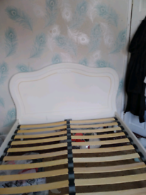 French style solid wood double bed needs some TLC