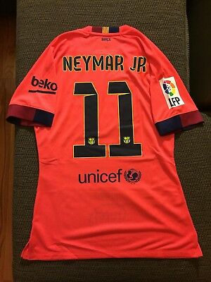 02001d9d301ea Neymar Away FC Barcelona Match Issue Un Worn 14-15