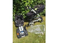 Mamas & Papas Skate complete travel system: carry cot, seat, car seat and base