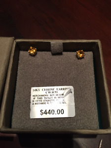Effy Citrine Stud Earring in 14K Yellow Gold (0.95 TCW)