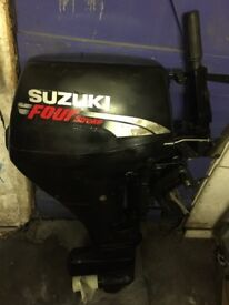 Suzuki df9.9hp four stroke short shaft tiller controlled outboard boat engine