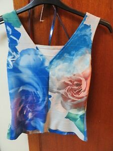 Joseph Ribkoff Dress Tank Top Size 6-Blue Multicoloured