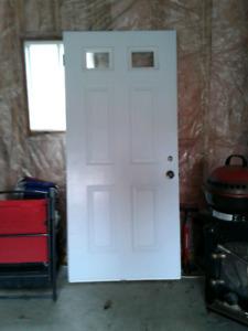 Ext steel door