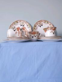 English Bone China Tea Set for 4