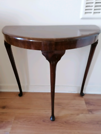 Vintage half moon console table