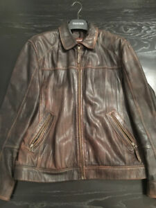 Men's DANIER Distressed Leather Jacket