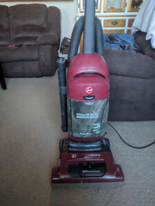 Hoover bag less upright widepath wind tunnel vacuum.