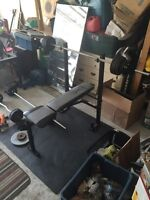 WORK OUT EQUIPMENT IN WHITBY OVER 120 pounds /bench press