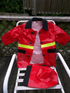 Very new firefighter costume for 5-8 years old