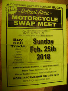 Huge Motorcycle Swap Meet This Sunday Novi, MI.