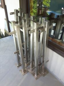 Stainless steel deck posts