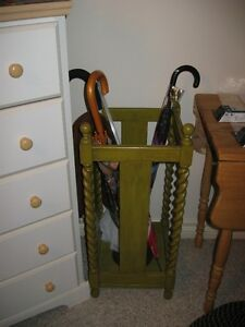 very old umbrella stand-barley twist