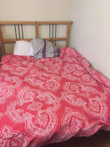 Selling my IKEA double bed + queen size duvet + pillow Kingston Kingston Area image 2