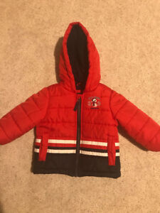 baby London fog padded full zip up jacket