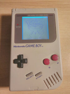 Gameboy with backlight and bivert mod