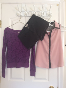 Clothing lot, brand name tops and bottoms!!!
