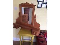 Solid Pine Dresser Mirror