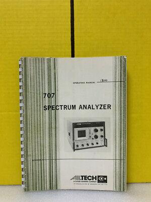 Ailtech 707 Spectrum Analyzer Operation Manual