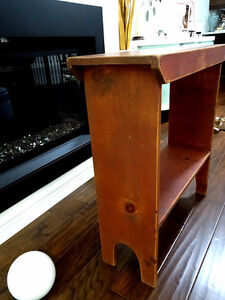 antique PINE BUCKET BENCH distressed russet SHABBY farm COUNTRY Cambridge Kitchener Area image 4