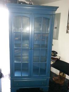 Beautiful blue china cabinet