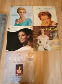 "Assorted classical, opera and folk/rock 12"" vinyl LPs"