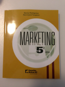 Marketing 5e édition par Denis Pettigrew et Normand Turgeon