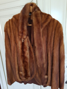 Mink Coat and scarf in Excellent condition