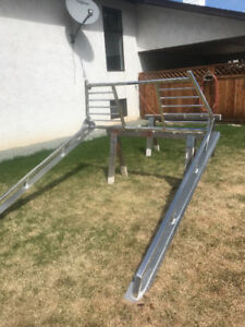F350 aluminum  headache rack and rails